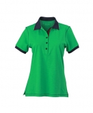 Casual dames poloshirt groen