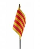 Catalonie vlaggetje polyester