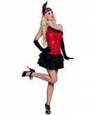 Charleston kostuum rood met zwart