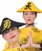Chinese hoed voor volwassenen zwart