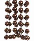 Chique christmas kerstboom decoratie kralenslinger xxl bruin 270 cm