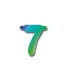 Cijfers van papier cijfer 7