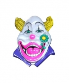 Clown muurdecoratie 60 cm wit