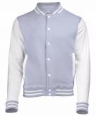 College jacket vest grijs wit voor dames