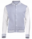 College jacket vest grijs wit voor heren