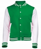 College jacket vest groen wit voor dames