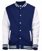 College jacket vest navyblauw wit voor dames