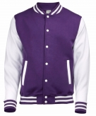 College jacket vest paars wit voor heren