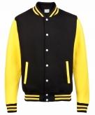 College jacket vest zwart geel voor dames