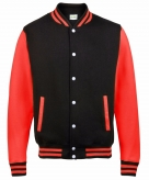 College jacket vest zwart rood voor dames