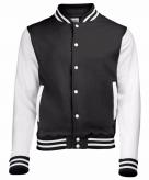 College jacket vest zwart wit voor dames