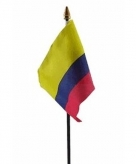 Colombia vlaggetje polyester
