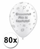 Communieversiering ballonnen 80 x