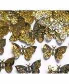 Confetti gouden holografische vlinders van 60 gram