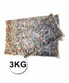 Confetti zak van 3 kilo multicolor
