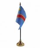 Congo versiering tafelvlag 10 x 15 cm
