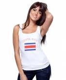 Costa rica vlag tanktop t-shirt voor dames