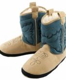 Cowboy pantoffels blauw voor jongetjes