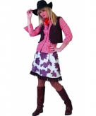 Cowgirl blouse voor dames rood wit