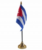 Cuba versiering tafelvlag 10 x 15 cm