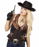 Dames cowgirl vest