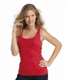 Dames mouwloos t-shirt rood