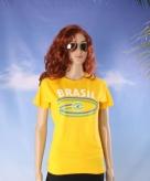 Dames t-shirt met de braziliaanse vlag 10048399