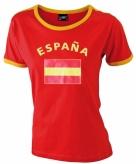 Dames t-shirt met de spaanse vlag 10033049