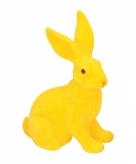 Deco paashaas geel 23 cm