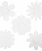 Deco papieren bloemen 100 stuks