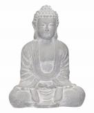 Decoratie boeddha beeld blauw grijs 35 cm