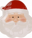 Decoratie kerstbord kerstman 24 cm