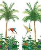 Decoratie palmbomen papier