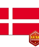 Deense vlag luxe kwaliteit