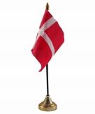 Denemarken versiering tafelvlag 10 x 15 cm