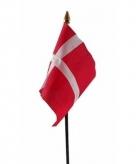 Denemarken vlaggetje polyester