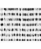 Deurgordijn met zwarte kralen 90 x 220 cm