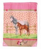 Dieren artikelen roze paarden gymtas type 4