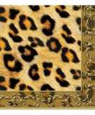 Dieren servetten luipaard print 3 laags 20 stuks