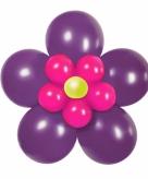 Doe het zelf ballon figuur bloem paars roze