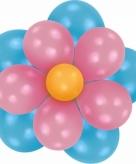 Doe het zelf setje ballonnen bloem blauw roze
