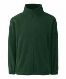 Donker groen polyester fleece vest met rits voor jongens