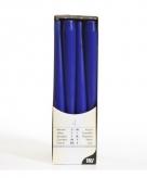 Donkerblauwe kandelaarkaarsen 25 cm