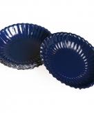 Donkerblauwe snack schaaltjes 16 cm