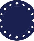 Donkerblauwe wegwerp placemats 33 cm