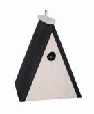 Driehoekig houten vogel nestkastje 18 cm