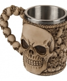 Drink beker met doodshoofden 10075208