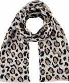 Dubbel laagse gebreide sjaal voor meisjes met luipaard print beige