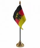 Duitsland met adelaar versiering tafelvlag 10 x 15 cm