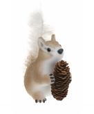 Eekhoorn decoratie met dennenappel 16 cm type 1